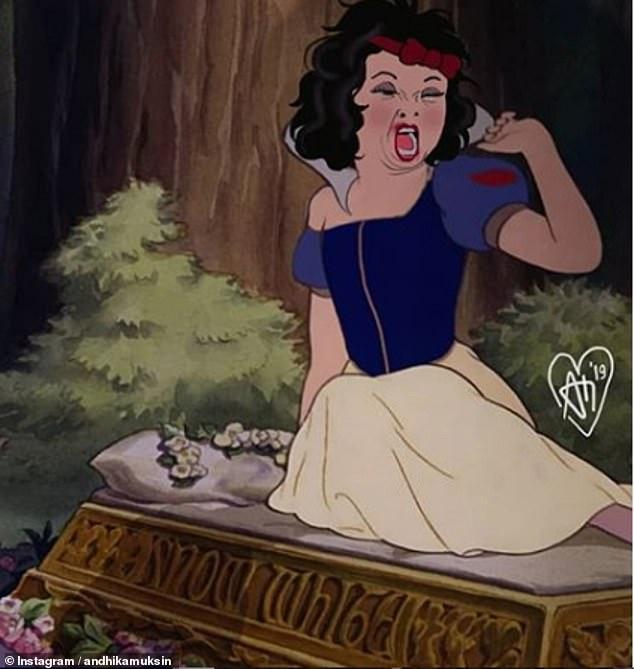 Artist creates hilariously honest portraits of Disney Princesses
