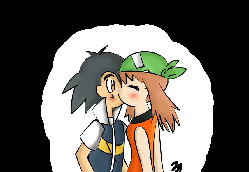 Ash And May Advanceshipping Pokemon Advanced Generations C Nintendo Warner Bros Pokemon Kissing Scenes Drawings