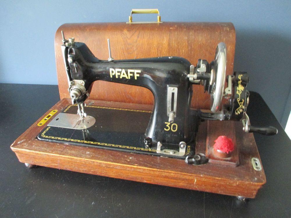 Beautiful 1951 Pfaff 30 Hand Crank Vintage Industrial