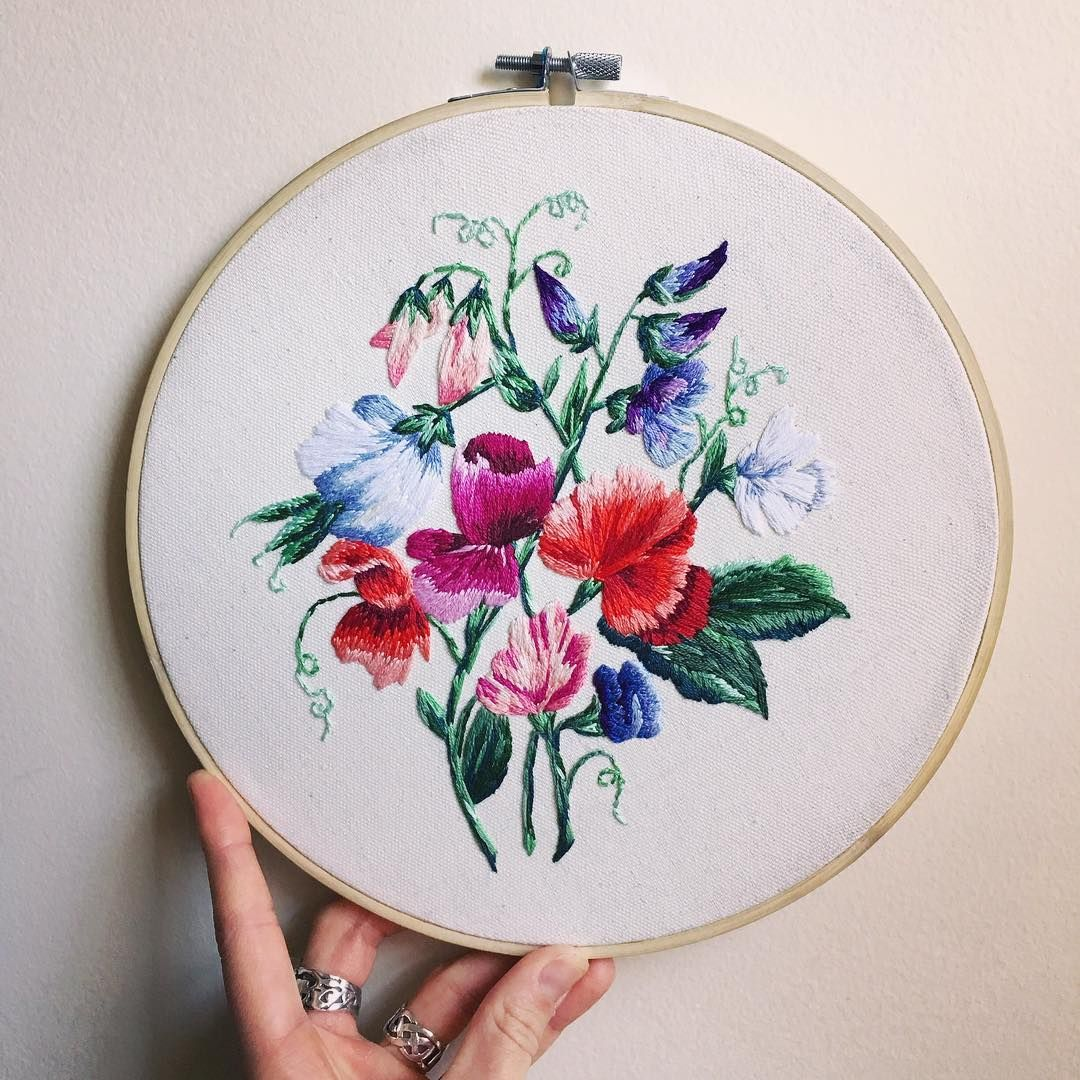 sweet pea embroidery # 69