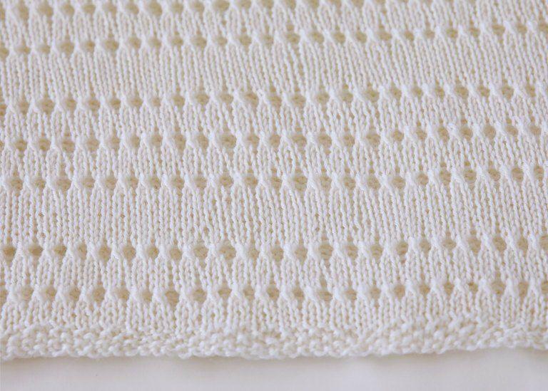 Eyelet Baby Blanket Knitting Pattern - Leelee Knits | Coperte ...