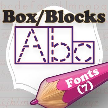 This set of 8 box-fonts will help students quickly and easily