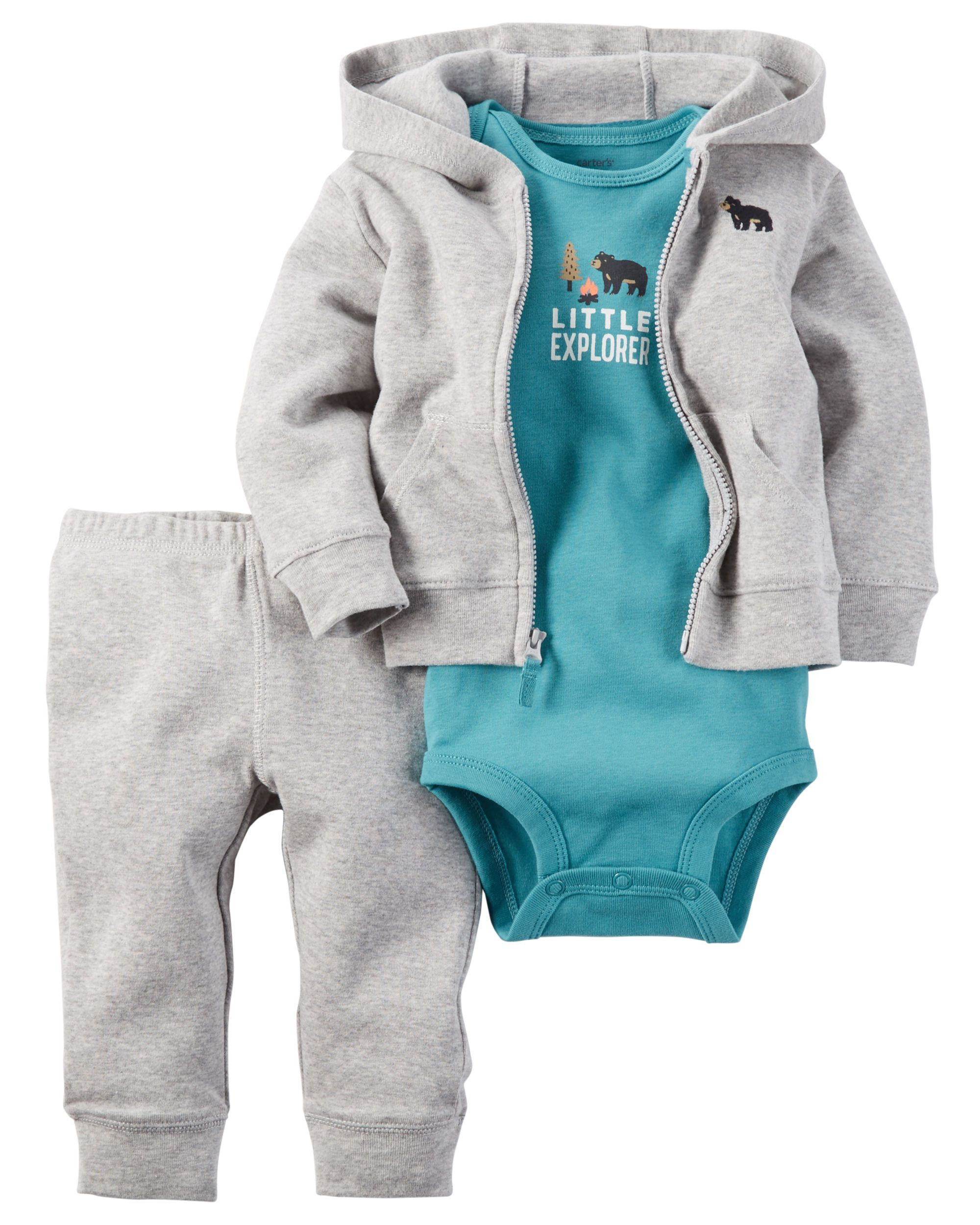 058d81680 Paired with essential pants and a bodysuit to match, he's all set! Baby Boy  3-Piece Babysoft Cardigan Set | Carter's OshKosh Canada Baby & Toddler  Clothing