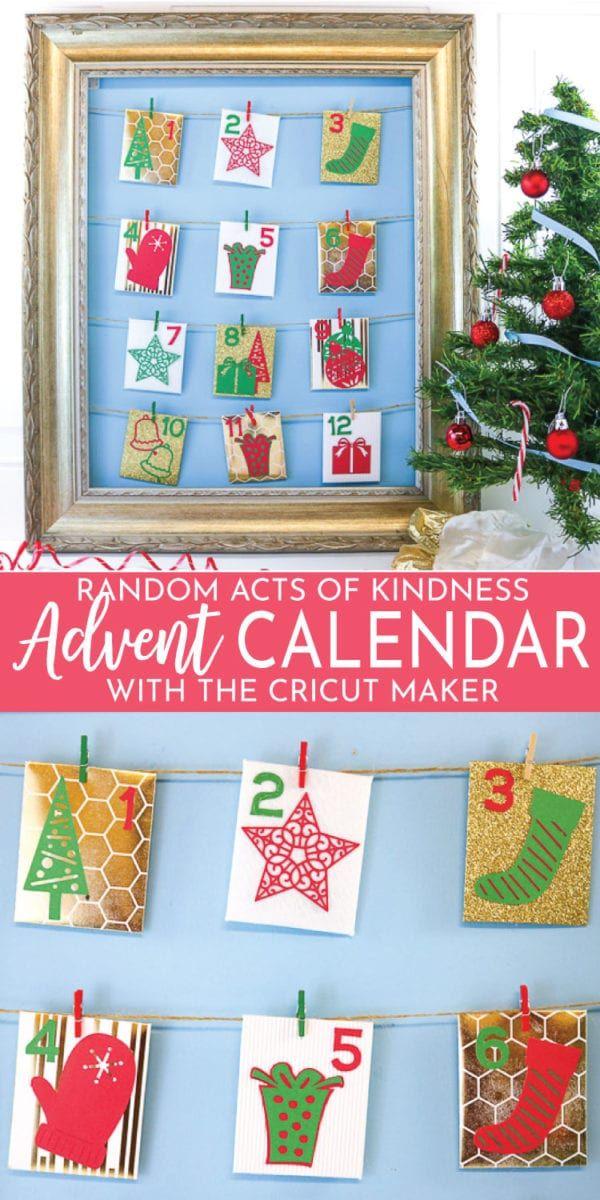 Random Acts of Kindness Advent Calendar Easy DIY to really