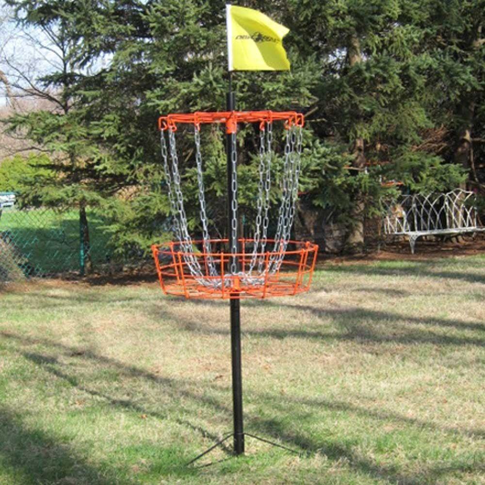 Portable disc golf target bastek disc golf yard games