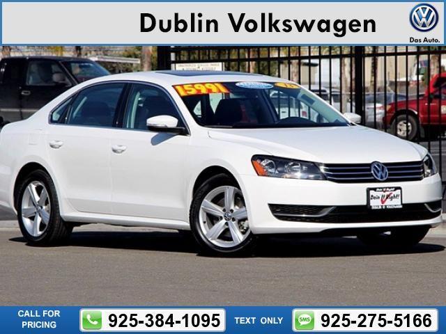 2013 Volkswagen Passat 2.5 SE 12k miles Call for Price 12570 miles 925-384-1095 Transmission: Automatic  #Volkswagen #Passat #used #cars #DublinVolkswagen #Dublin #CA #tapcars