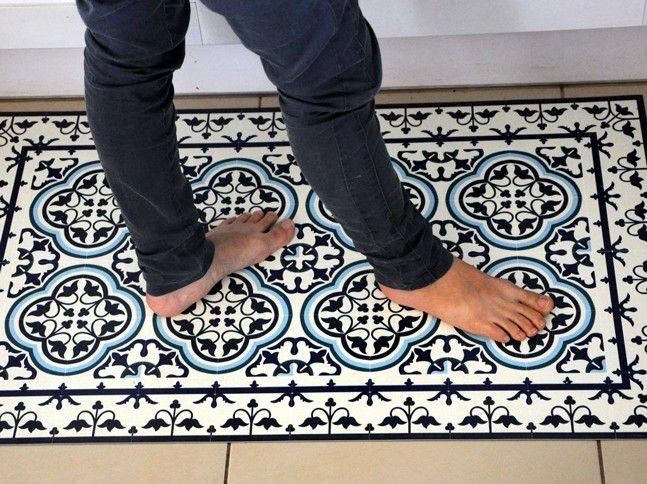 tapis vinyl portugal blue 70 x 180 cm beija flor coussins et accessoires pinterest. Black Bedroom Furniture Sets. Home Design Ideas