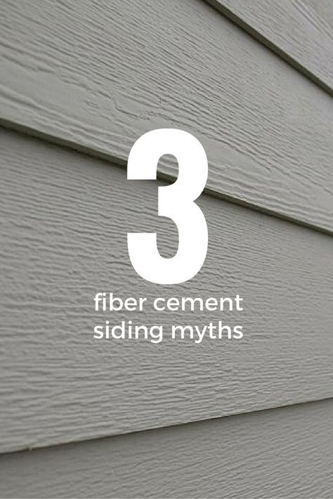 3 Common Myths About Fiber Cement Siding Cement Siding