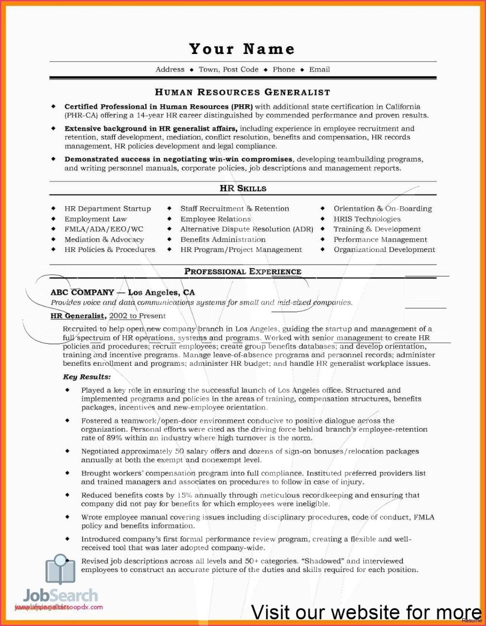 Sample Child Care Resume Objectives Australia 2020