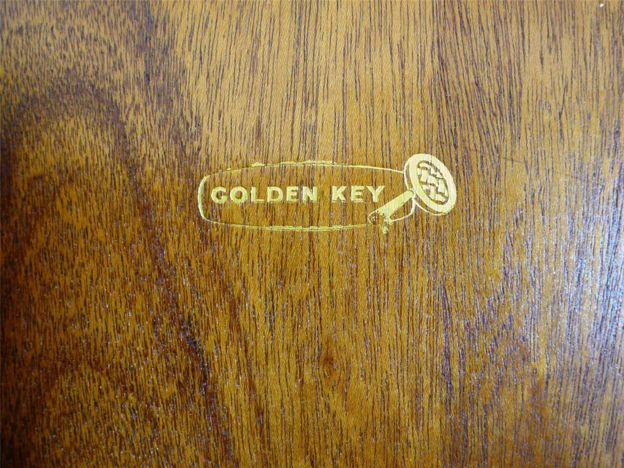 Golden Key Vintage Furniture Label 1950 S Tag