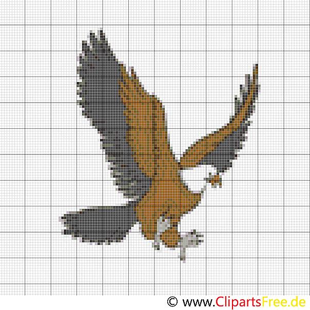 Kostenlose Stickvorlagen Vogel Adler Stickvorlagen Kreuzstich Vogel Kreuzstich Tiere