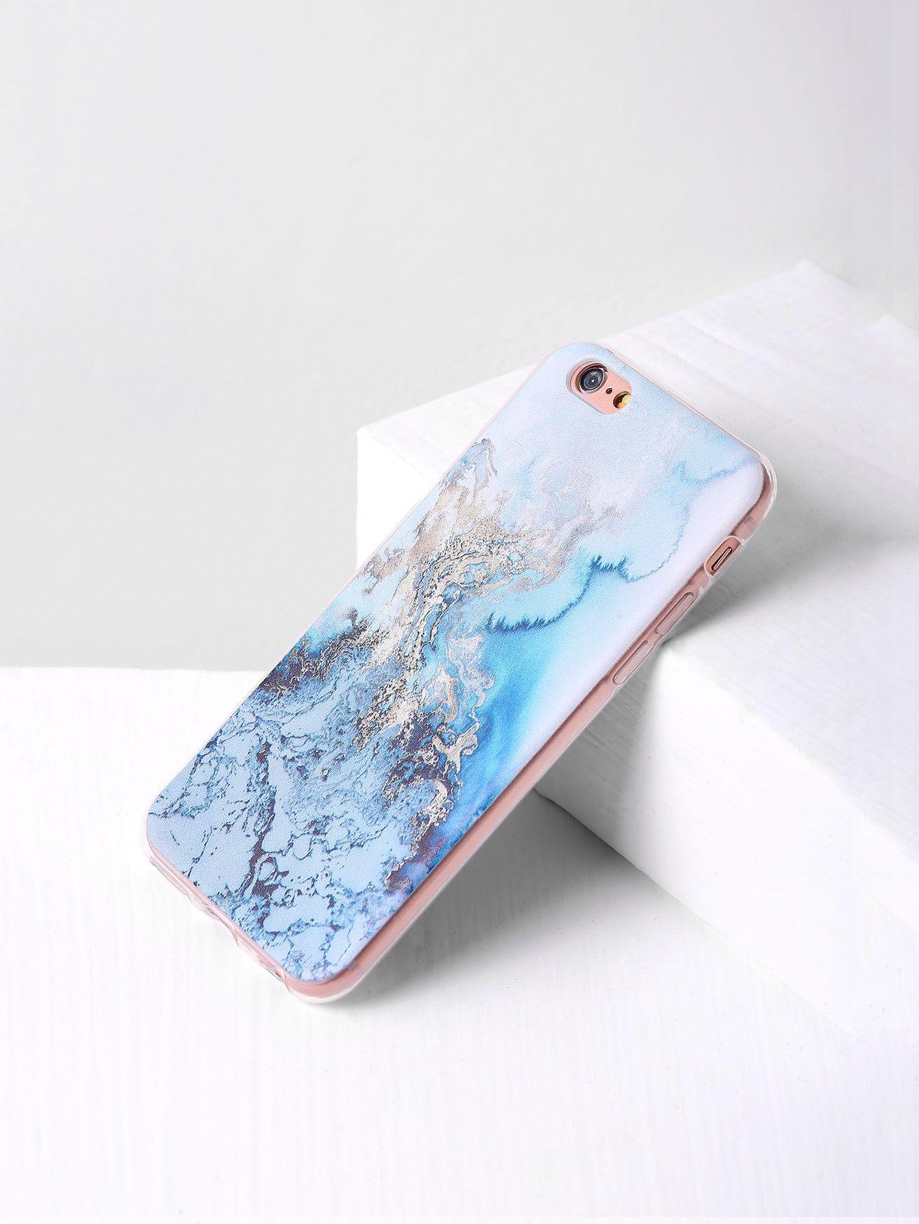 Blue marble print iphone 66s case sheinsheinside