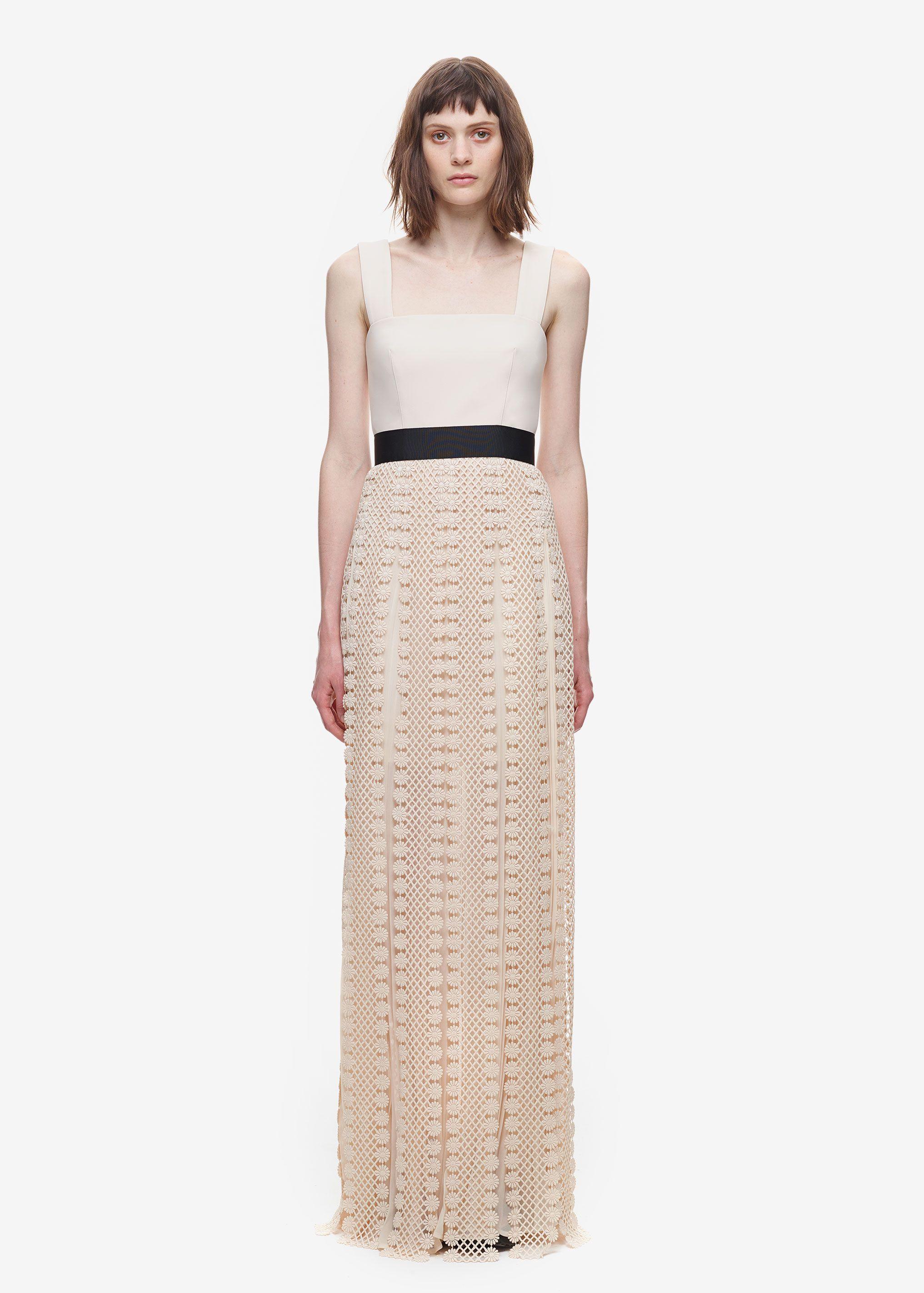 030aef414dd4 All Lace Trim Maxi Dress | Self-Portrait | fashioned | Fashion, Lace ...