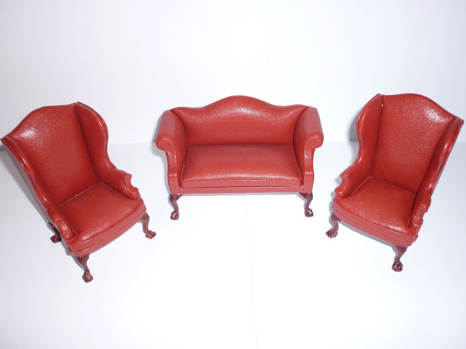 Jia Yi Dolls House Red Leather Living Room Suite Suite 12th Scale New