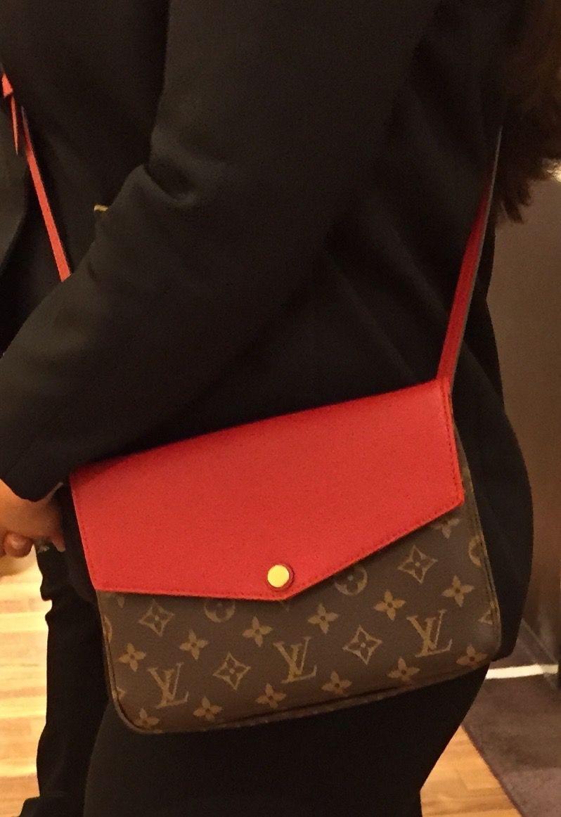 Louis Vuitton Twinset Crossbody. In Monogram   Red. Also comes in Mono w   black or aurore. e0137e1895b8d