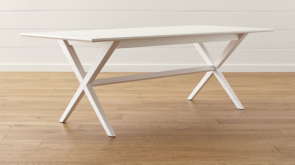 Spotlight White Dining Table 86 Long X 38 Wide 30