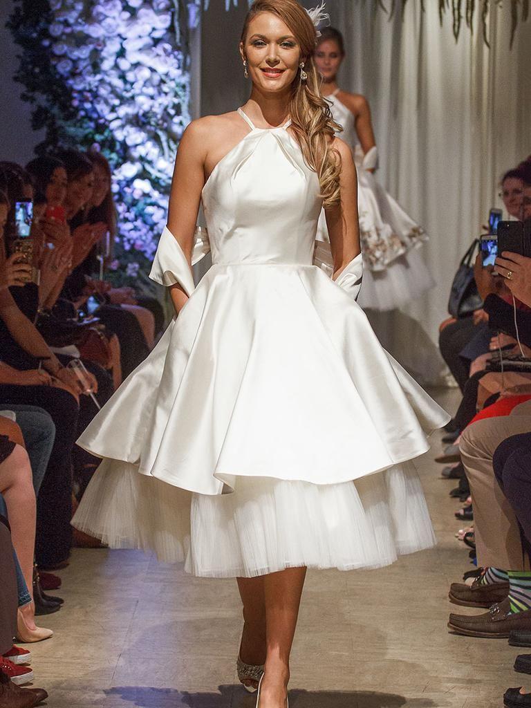 Matthew christopher fall wedding dresses tealength layered