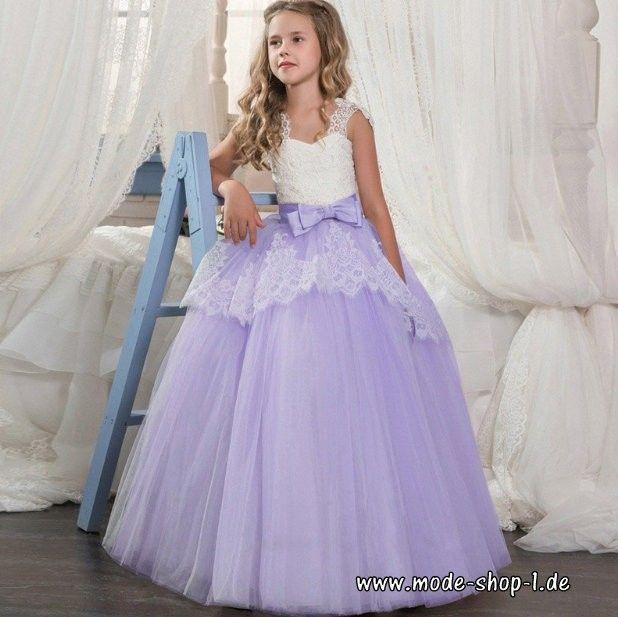 Elegantes Mädchenkleid Blumenmädchen Kleid mit Spitze in ...