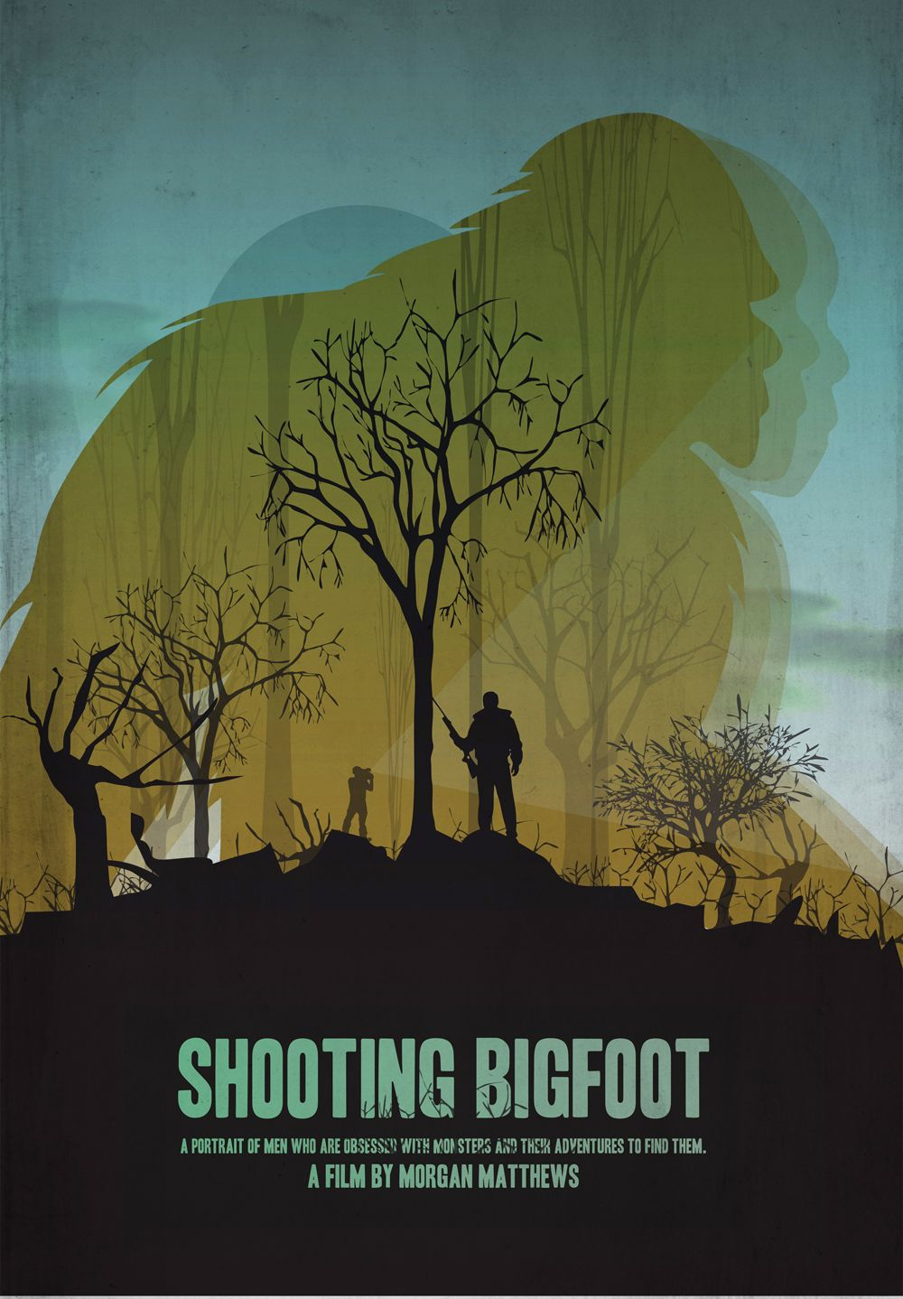 Poster design documentary - Film Poster Design For Shooting Bigfoot A Documentary Film Following Two Men Who