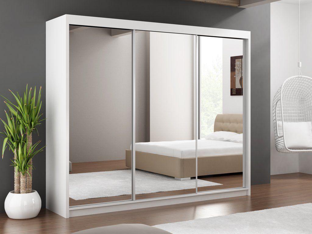 Instrument Paris Lux White Mirror Wardrobe W250 X D61 X H215