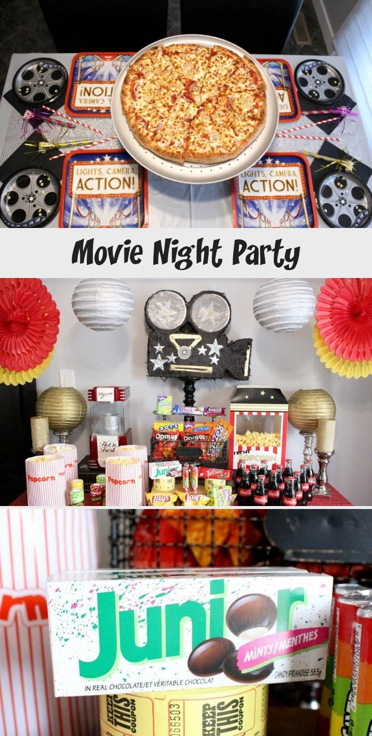 Movie Night Party Movie Night Party Party Decorations