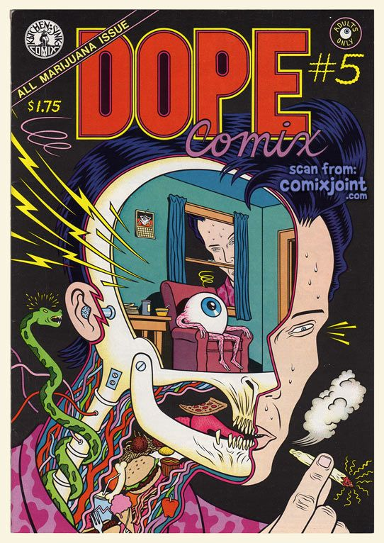 Kitchen Sink Press Dope comix 5 cover by charles burns undergroundcomix cover for dope comix kitchen sink press 1978 series workwithnaturefo