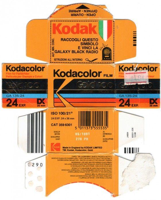 Kodak Film Pack Flattened Photograph 90s Design Film Aesthetic