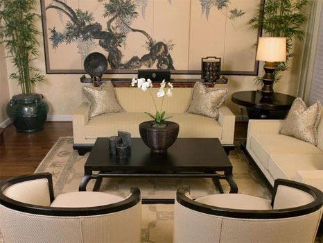 Sophisticated Japanese inspired living room | Japanese ...