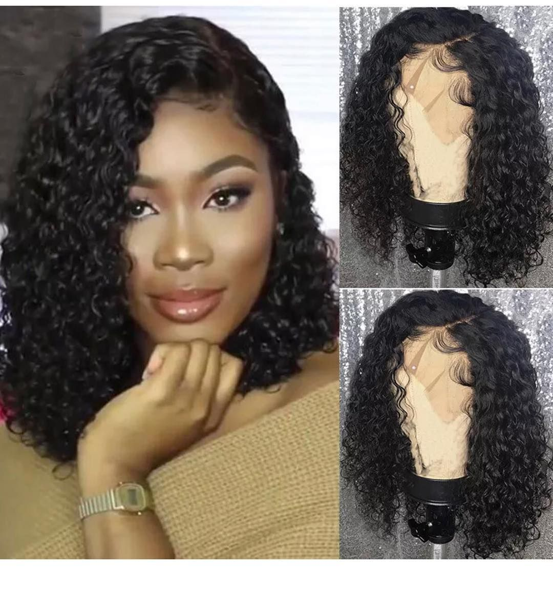 Colodo Brazilian Remy Hair Wig With Baby Hair Pre Plucked Natural Full Lace Human Hair Wigs 180 Short Water Wig Hairstyles Human Hair Lace Wigs Human Hair Wigs