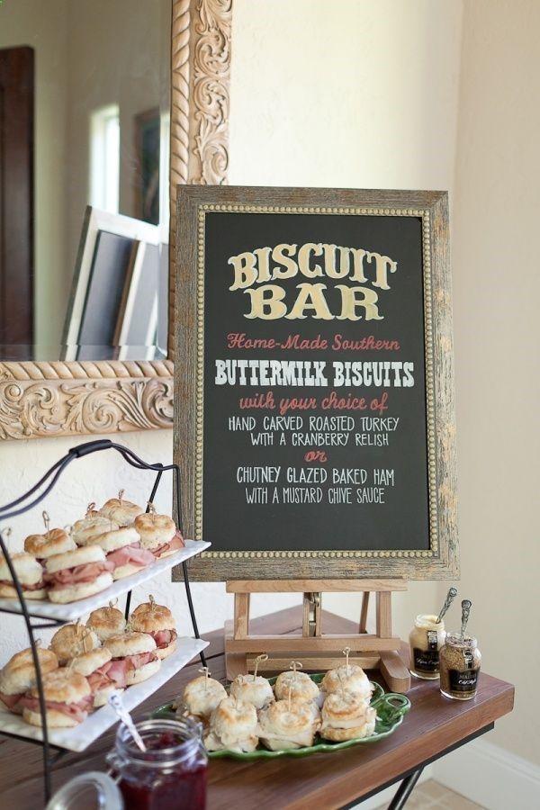 Designing the Perfect Brunch Wedding Series: Menus Biscuit bar