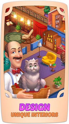 Homescapes v3.3.5 Mod Apk Money di 2020 Desain, Kucing