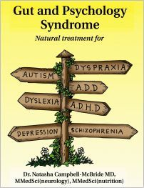 GAPS Gut and Psychology Syndrome (GAPS) - Natural treatment for autism ADHD/ADD dyslexia dyspraxia depression and schizophrenia.