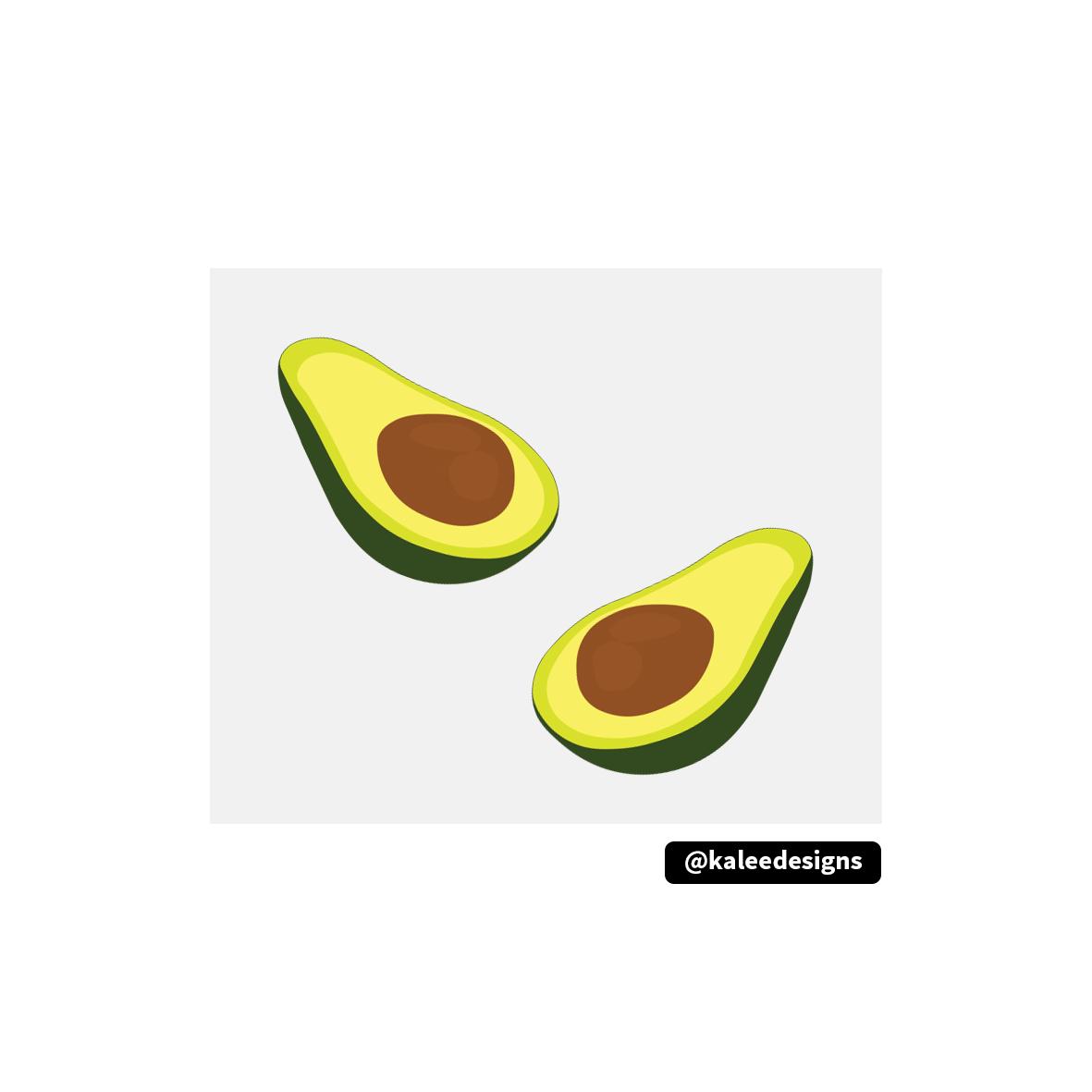 avocado avocadoillustration avo guacamole guac food