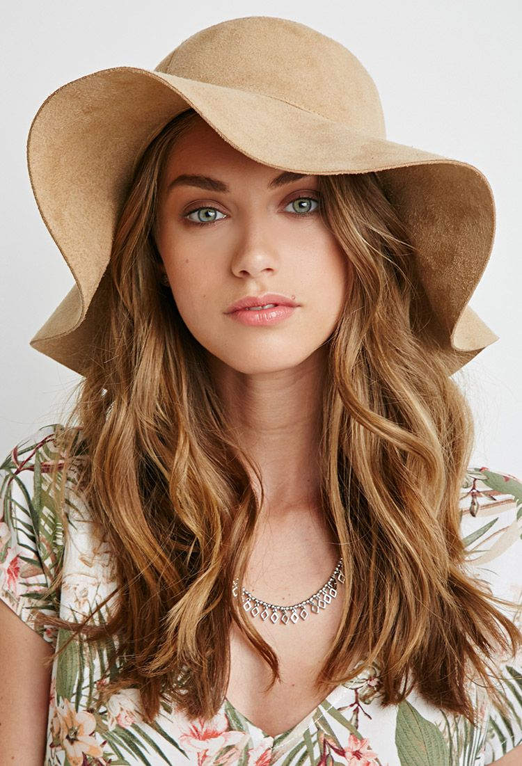 Faux Suede Floppy Hat - NEW ARRIVALS - ACCESSORIES - Hats - 2000095629 -  Forever 21 UK 889ba377e53