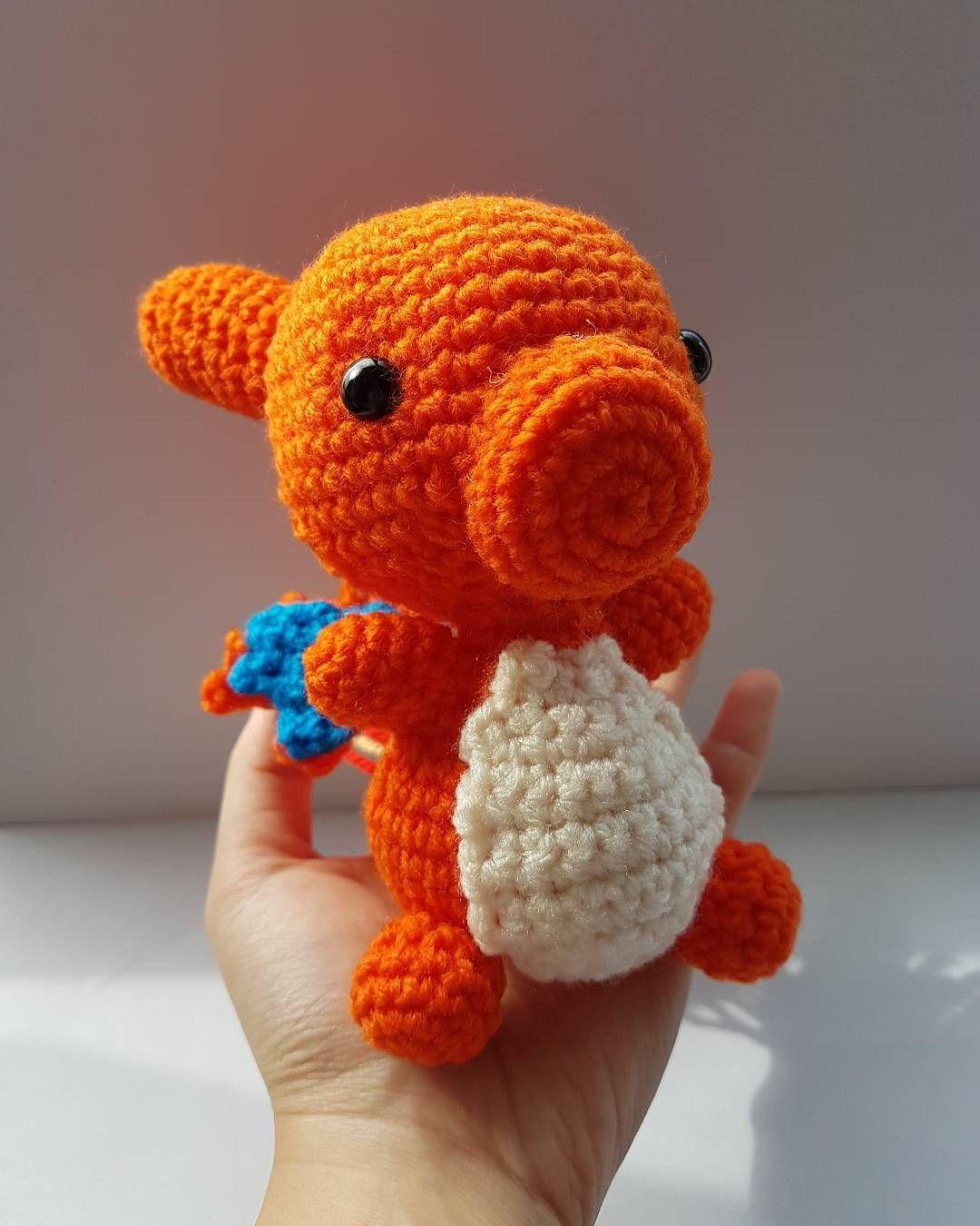 Ta da! Charizard finally complete! He was most enjoyable to make. So cute and squishy!  #charizard #crochet #amigurumi #pokemon #pokemongo #gottacatchemall #complete #collection #handmade #plush #firepokemon #kawaii #nintendo #cuddly #yarn #hobby