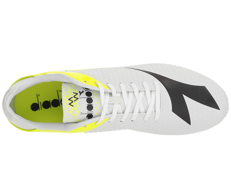 0080c09f9b11 Diadora MW-Tech RB R LPU Soccer Shoes White Black Fluo Yellow ...
