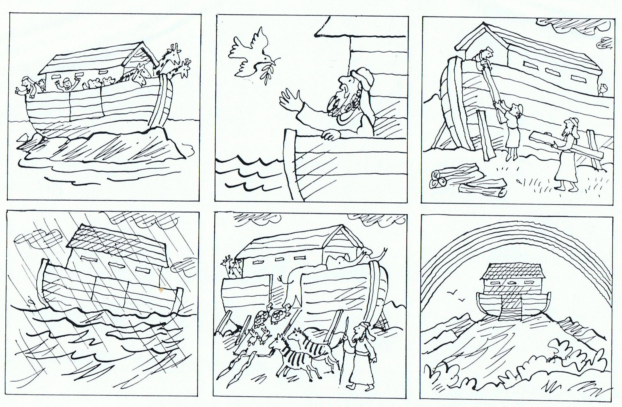 Prenten Noach Bouwt Een Ark