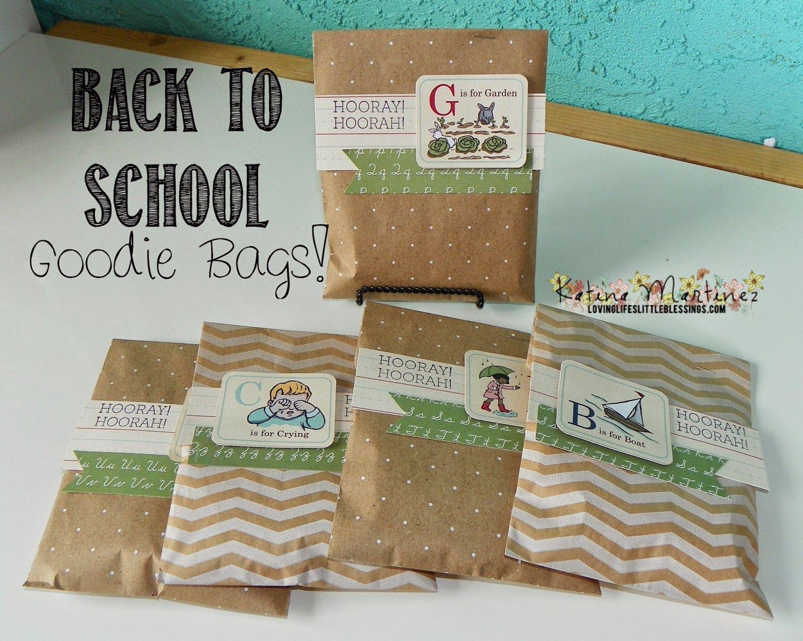 Back To School Treat Bags! - Loving Life's Little Blessings #prettypackaging