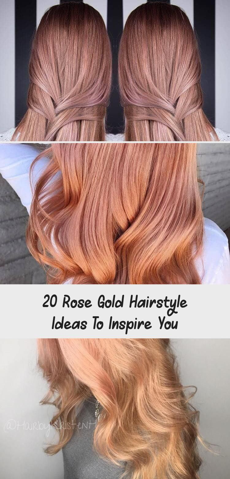 Photo of The idea with 20 rose gold hairstyles includes both short and long hair …