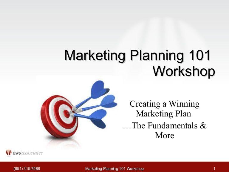 marketing-planning-workshop by DWS Associates via Slideshare