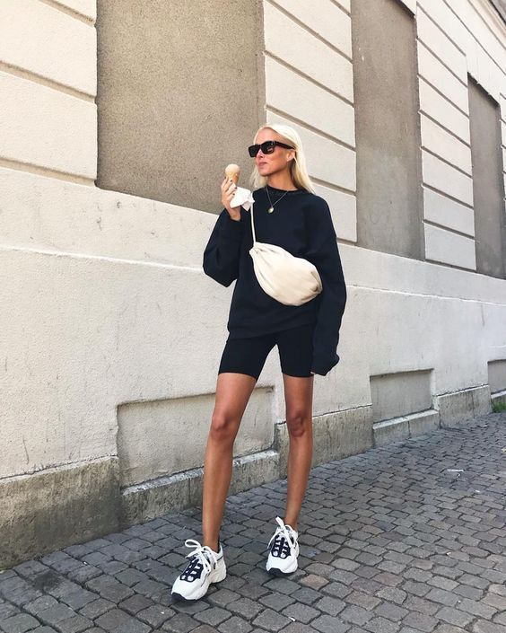 Photo of Bikershorts Biker Short Outfits 2019 Trends Street Style Streetwear Schultertasc… – Dresses for Women