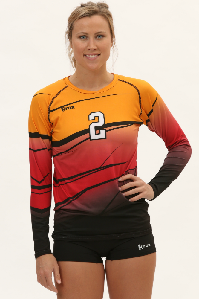 Shade Womens Sublimated Volleyball Jersey Volleyball Jerseys Volleyball Outfits Volleyball Workouts