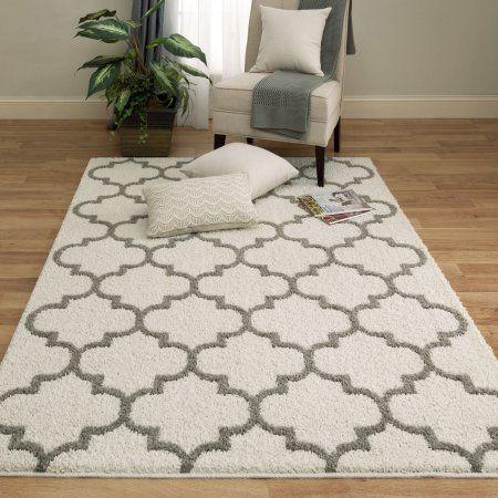 mainstays trellis 2color shag area rug is available at walmartcom