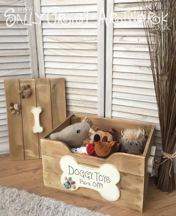 Wooden Doggy Toy Box Handmade Unique And Totally