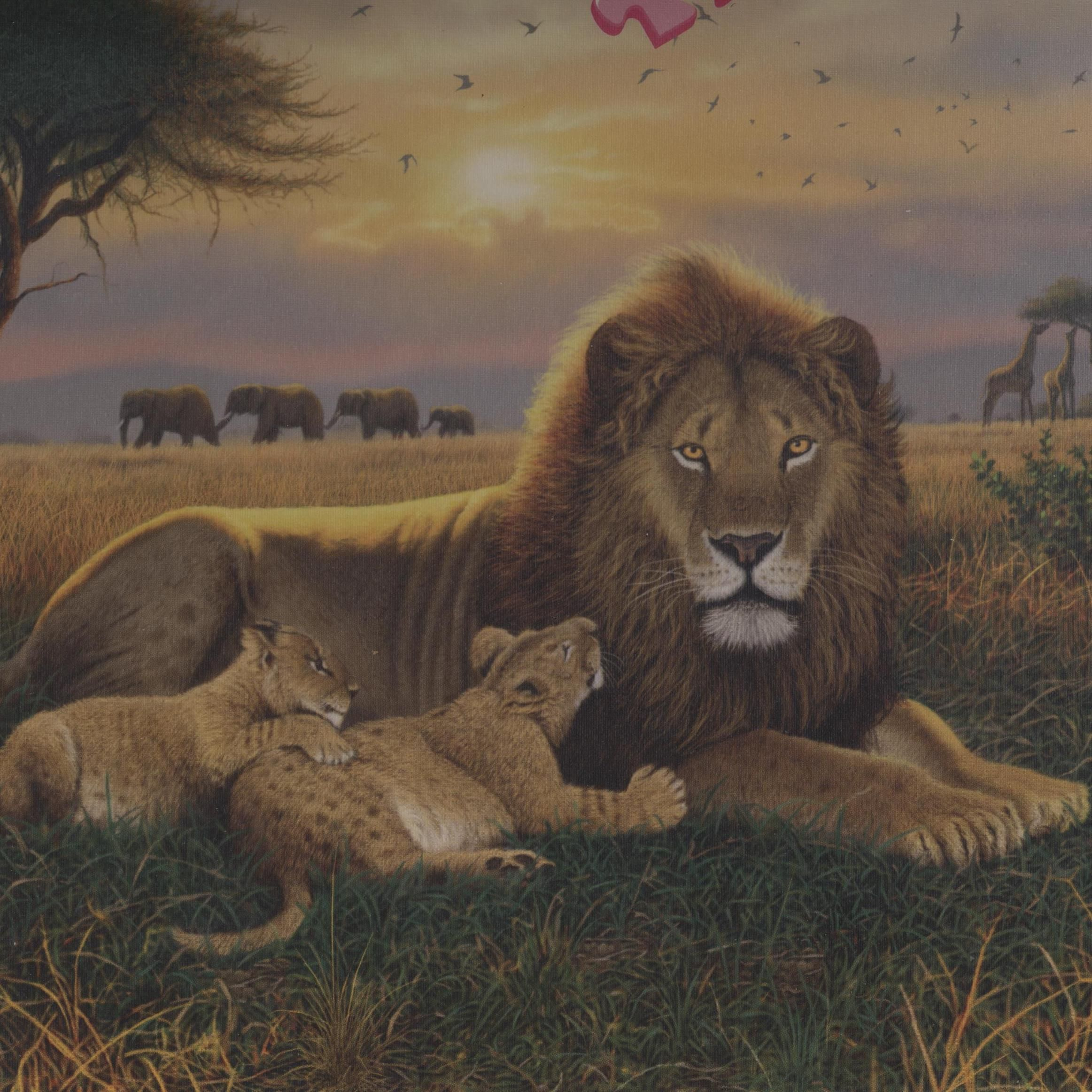 kings of the serengeti african lions themed 1000 piece jigsaw