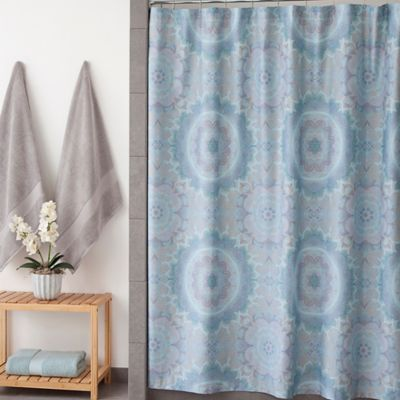 Under The Canopy Lightworker Shower Curtain In Blue