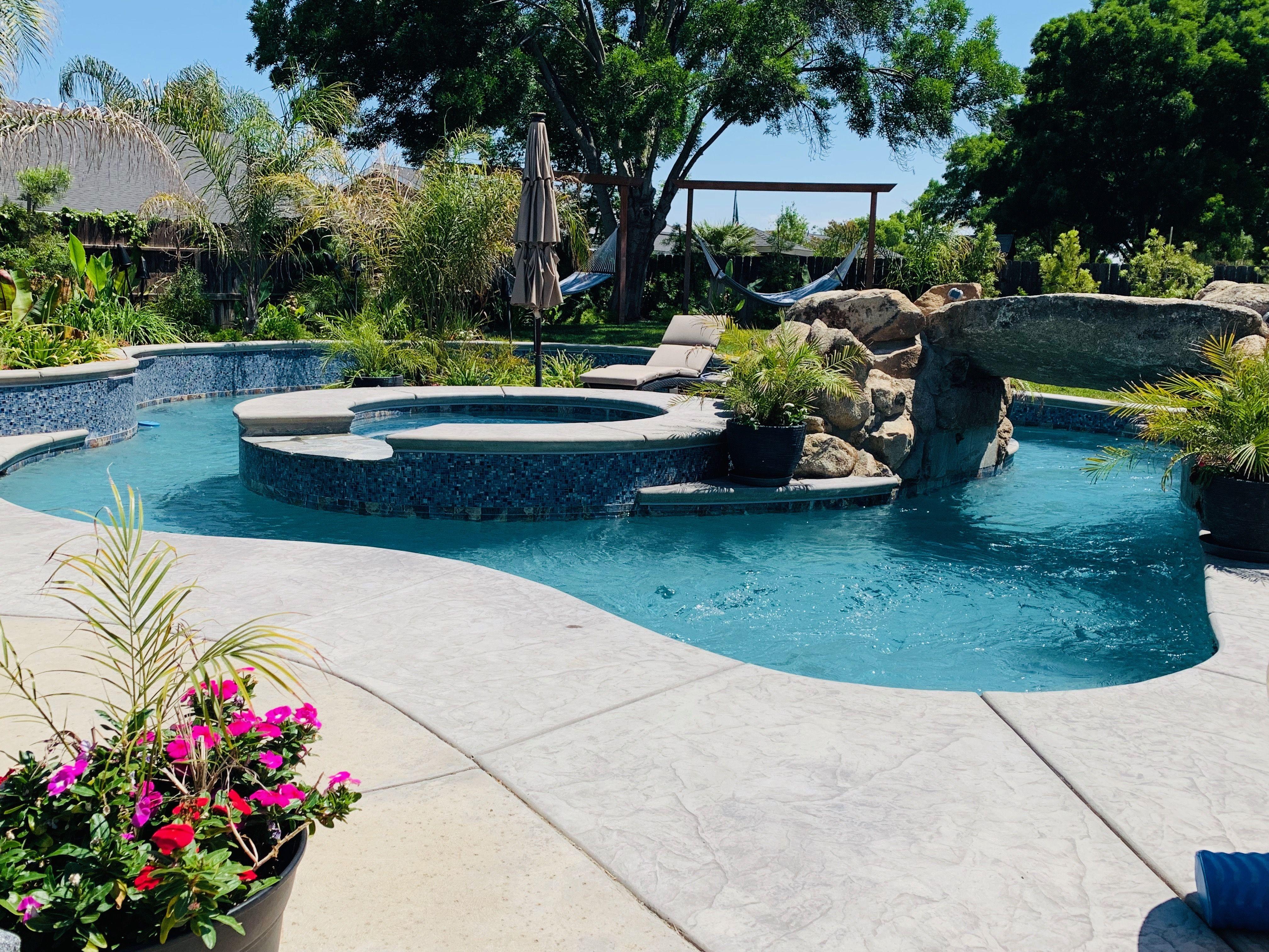 Hanford Lazy River Pool Spa Pcc2000 Cleaning Satin Matrix Pebble