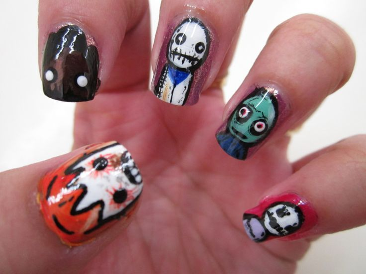 Salad Fingers Nail Art