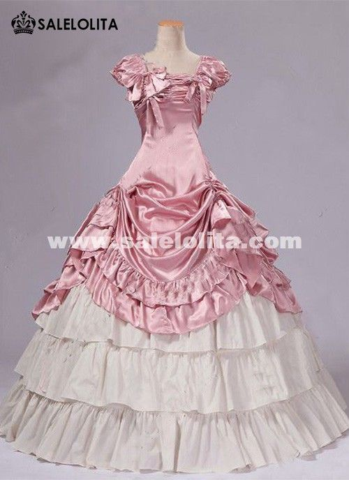 Brand New Pink Southern Belle Victorian Prom Princess Dresses Ball ...