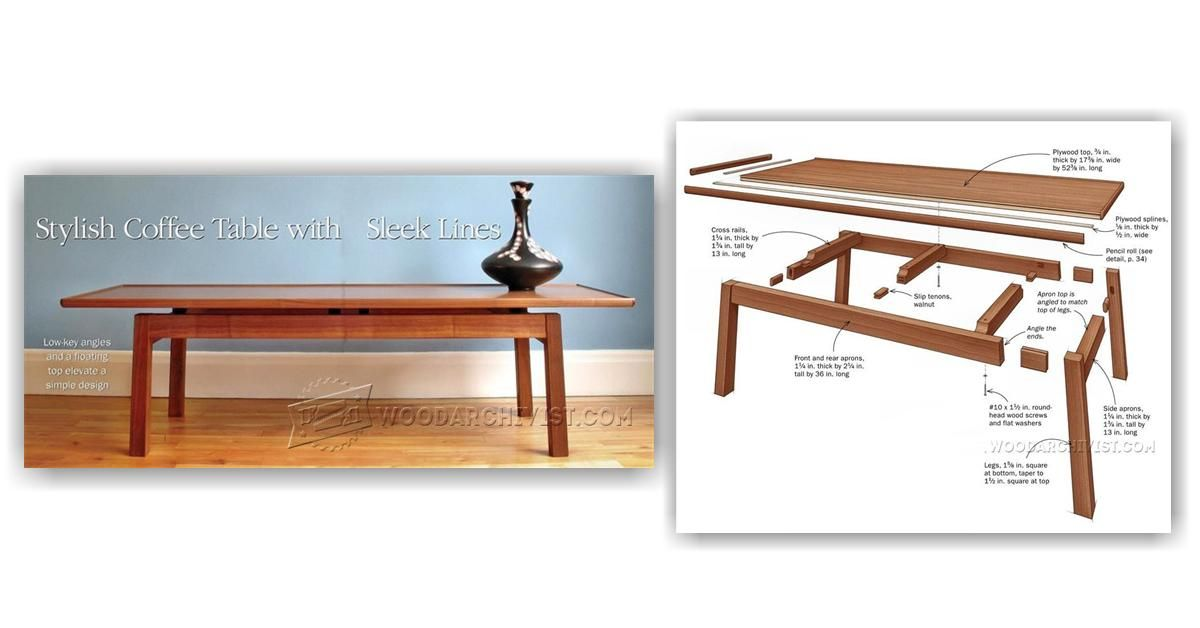 coffee table plans furniture plans and projects woodarchivist rh pinterest nz